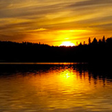 Beautiful sunset at Eagle Lake Sportsmens Lodge